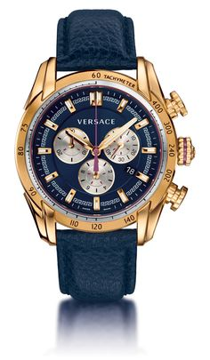 V-Ray blue: Power and dynamism, V-Ray expresses the sporting side of the Versace man's character.
