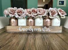 Happily ever after wedding centerpiece – Stacy Turner Creations