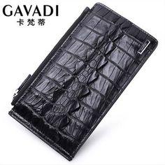 kafandi new crocodile leather long - card men's card bag large men wallet