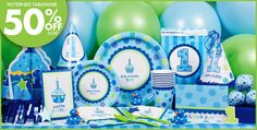 boy first birthday party supplies | Sweet Cupcake Boy's 1st Birthday Party Supplies - Party City