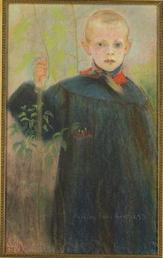 Chłopiec z kwiatem, Stanisław Wyspiański Art Database, Portrait, Artist, Artwork, Children, Poland, 19th Century, Youth, Study