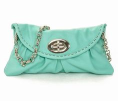Turquoise Mini Bag with Chain - Uncovet