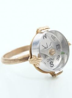Gold Ring - Compass Gold Metal Ring | UsTrendy ($1-20) - Svpply