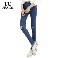 $18.59 (Buy here: https://alitems.com/g/1e8d114494ebda23ff8b16525dc3e8/?i=5&ulp=https%3A%2F%2Fwww.aliexpress.com%2Fitem%2FTC-Hot-Jeans-Pants-2015-Womens-Fall-Fashion-Female-Denim-Strech-Blue-Black-Skinny-Hole-Ripped%2F32463741633.html ) TC Hot Jeans Pants 2015 Womens Fall Fashion Female Denim Strech Blue Black Skinny Hole Ripped Pencil High Waist Plus Size PT0236 for just $18.59