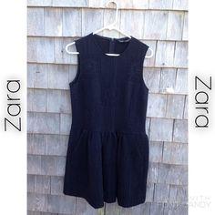 ♠️ZARA Little Black Dress♠️ A little black dress, size 5 by Zara Woman. It's a vintage style quilted pattern. Zip back. Two front pockets. Super cute! Zara Dresses Mini