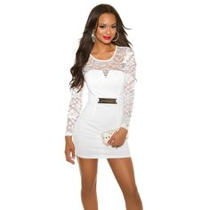 Sexy lace long sleeve dress in various colours and sizes 8 - 14 free postage Mini Robes, Swimsuits, Swimwear, Monokini, Bodycon Dress, Prom Dresses, How To Wear, Clothes, Colours