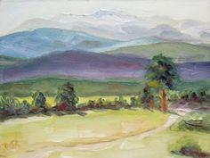 "© Debbi Smith Rourke ""Moraine Park Study"" 6x8"" oil on panel. Available: http://debbismithrourke.blogspot.com/2009/08/moraine-park-study-i.html"