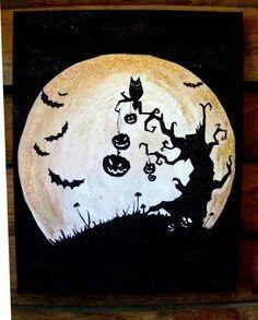 Cute canvas idea for Halloween