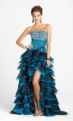 Unique Strapless Prom Dress by Blush 9267 at PromGirl.com