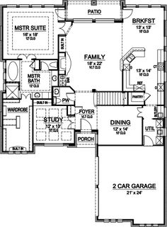 First Floor- Monster House Plans - Plan 63-207