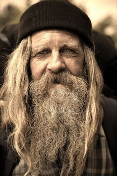 our FACES tell our STORIES by kirsten, man, male, oldie, beard, long hair, story, history, portrait, photo.