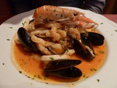 Seafood pasta at my favourite Italian - La Rugoletta in East Finchley