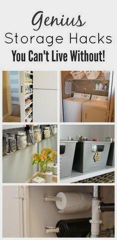 19 Tutorials to Upgrade Ikea Furniture - Painted Furniture Ideas #storage Storage Hacks, Diy Storage, Organization Hacks, Storage Ideas, Pantry Storage, Organizing Ideas, Kitchen Storage, Diy Hacks, Home Hacks