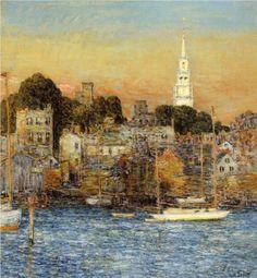 October Sundown, Newport - Childe Hassam