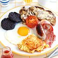 Irish Weekend Fry-Up  (mind you, the 'recipe' is to buy everything and fry it up desperately...)