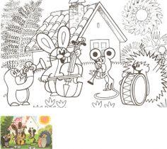 Výsledek obrázku pro how to draw krtek Cute Coloring Pages, Coloring Sheets, Mole, Children, Kids, School, Teaching, Cartoon, Drawings