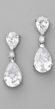 Kenneth Lane double pear drop earrings