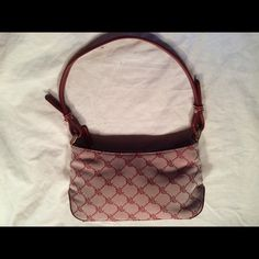 Ralph Lauren Monogrammed Small Shoulder Handbag Great Condition. Monogrammed Hardware Leather Feel Ralph Lauren Bags Shoulder Bags