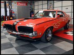 Sportin' that competition Orange and Black... 1970 Mercury Cougar Eliminator  351 CI, 4-Speed    #MecumHouston