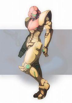 Samus Aran, from Metroid.