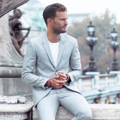 Image may contain: one or more people, people sitting and suit Jamie Dornan, Fifty Shades Movie, Fifty Shades Trilogy, Christian Grey, Men Are Men, Grey Pictures, Mr Grey, Nick Bateman, Future Clothes