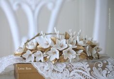 Floral bridal crown. Wedding floral crown. by ERflowersStudio