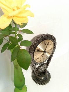 Timing Gear and Chain Desk Clock Engine by FrostAutoDecor on Etsy  car part furniture Man Cave automotive decor engine table piston rods camshaft timing cover  gear clock gear head valve cover lamp LS Lamp camshaft LSX