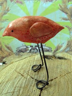Clay Bird      Don't care for the shape of this bird, but the idea is good...  already thinking of long legged creatures I could put out in the garden....