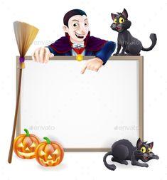 Dracula Halloween Sign