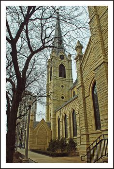 Holy Name Catholic Cathedral is in Chicago's Gold Coast neighborhood on N. State Street. USA