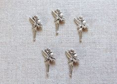 Fairy Charms x 5.  Flower Fairy Charms.  Antique by Charmalushus