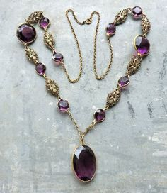 Victorian Revival Amazing Faceted Amethyst от thecaravancollection