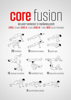 No-equipment fusion bodyweight workout for all fitness levels. Visual guide: print & use.