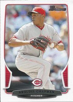 2013 Bowman 3 Aroldis Chapman Cincinnati Reds Baseball Card