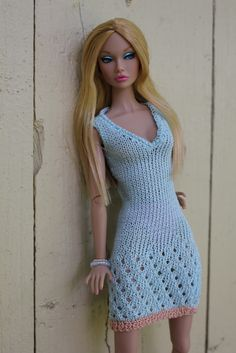 Explore mediapeak's photos on Flickr. mediapeak has uploaded 1589 photos to Flickr. Crochet Barbie Patterns, Crochet Barbie Clothes, Doll Clothes Barbie, Barbie Dress, Clothes Crafts, Knitted Dolls, Handmade Clothes, Fashion Dolls, Knitwear