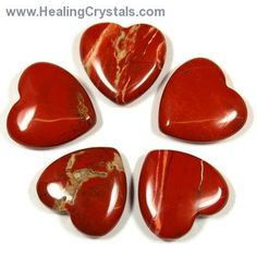 Red Jasper Hearts from China Crystals that have been shaped into hearts increase loving energy in addition to the other characteristics of the type Types Of Crystals, Stones And Crystals, Healing Crystals, Red Jasper, Jasper Color, Jasper Stone, Root Chakra Stones, Crystal System, Minerals