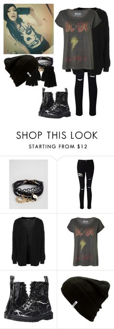 """""""-lays on the sidewalk; extremely sick-~Jace"""" by kahumphh-anon ❤ liked on Polyvore featuring ASOS, Miss Selfridge, Topshop, Dr. Martens and Vans"""