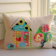 Happy Home Appliqued Pillow You are my sunshine.  от tracyBdesigns