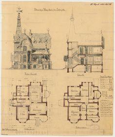 Ländliches Wohnhaus in Berlin-Lichterfelde. Monatskonkurrenz April 1881 | unbek. Architekt