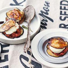 Auberginen-Mozzarella-Taler Rezept | Küchengötter