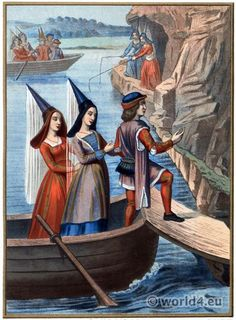 Middle ages costume history. 15th century fashion.