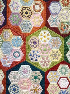 Brigitte Giblin Quilts ... truly stunning! Hexagon