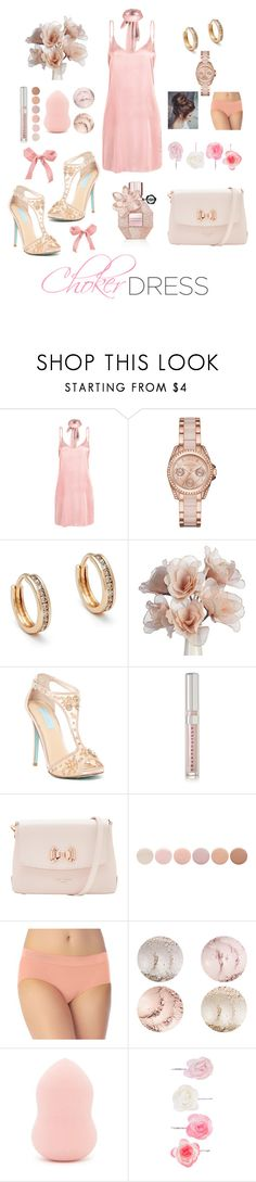 """""""Choker Dress"""" by michele-nyc ❤ liked on Polyvore featuring WithChic, MICHAEL Michael Kors, Anna Sheffield, Betsey Johnson, Chantecaille, Ted Baker, Deborah Lippmann, Vanity Fair, Forever 21 and Accessorize"""