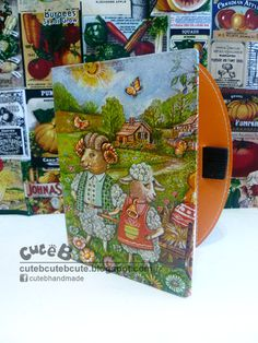Decoupage: 3D Sheep Personalized Notebook  Did you like to make a Personalised Notebook for yourself or love one? Custom order & class are availabe now. Please contact us at 012-3286 792 or cuteb1225@yahoo.com for more details.