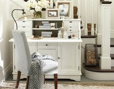white' office decorating ideas | Gallery of 28 White Small Home Office Ideas