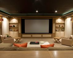 exemplos de decorao de home theaters em ambientes - Design Home Theater