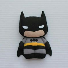 Image only: Batman felt toy Felt Diy, Felt Crafts, Batman Gifts, Diy Keychain, Felt Patterns, Sewing Toys, Felt Dolls, Diy Doll, Felt Animals
