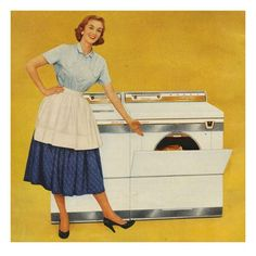 Washing Machines Usa Housewives Art Print by The Advertising Archives Advertising Archives, Retro Advertising, Laundry Room Art, Vintage Housewife, 1950s Housewife, Vintage Laundry, Looks Vintage, Vintage Stuff, Vintage Ads