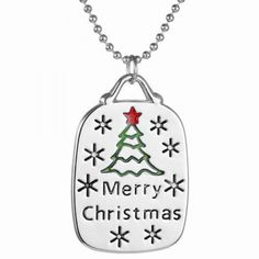 Trendy Engraved Merry Christmas Tree Pendant Necklace Jewelry For... ($2.59) ❤ liked on Polyvore featuring jewelry, pendants & necklaces, engraved jewelry, christmas jewelry and engraved pendant necklace