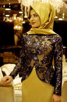 Pınar Şems - Saraylı Abiye Lacivert